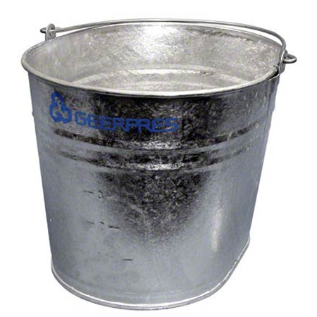 GEERPRES 2104 GALVANIZED STEEL 26 QT OVAL BUCKET W/O