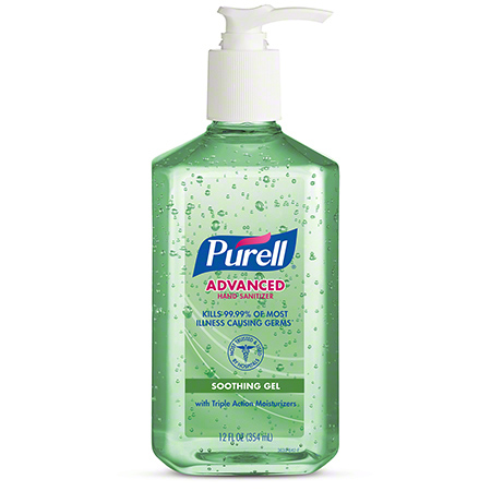CS 12 12OZ GOJO 3639-12 PURELL ADVANCED HAND SANITIZER W/