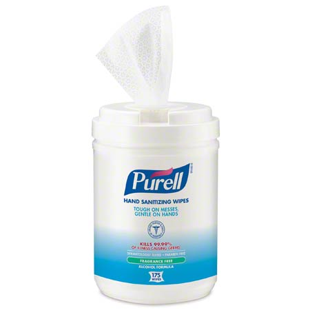 CS 6 175 CT PURELL 9031-06 ALCOHOL HAND SANITIZING WIPES