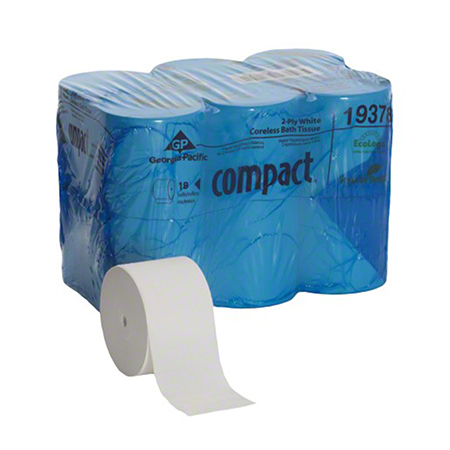 CS 18 RL GP 19378 COMPACT 2 PLY CORELESS BATH TISSUE