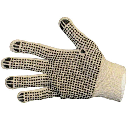 CS 12 PR IMPACT 8890 PVC DOTTED COTTON GLOVES SMALL