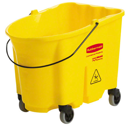 RM 7570-88 WAVEBRAKE BUCKET W/ CASTER KIT 35 QT YELLOW