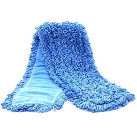 "EA SSS 19060 NEXGEN 5""X18"" BLUE MICROFIBER LOOP END DUST"