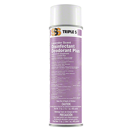 CS 12 17OZ SSS 21001 LAVENDER DISINFECTANT DEODORANT PLUS