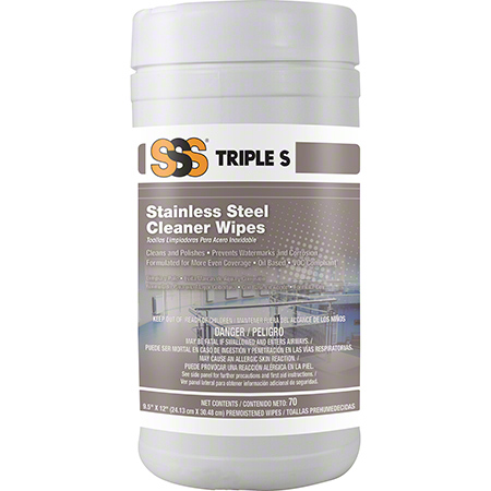 """CS 6 70CT SSS 21105 STAINLESS STEEL WIPES 9.75"""" X 10.5"""""""
