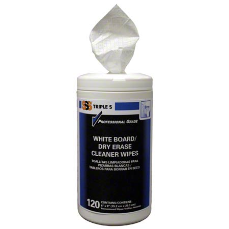 CS 6 120CT SSS 57010 WHITE BOARD/DRY ERASE CLEANER WIPES
