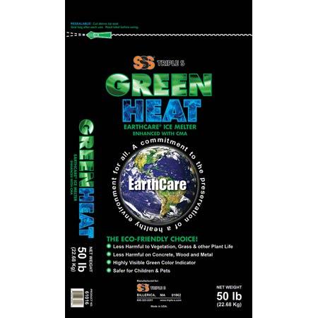 50 LB BAG SSS 61016 GREEN HEAT EARTHCARE ICE MELTER