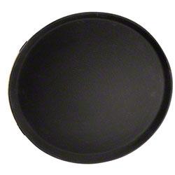 "Co®-Rect Round Bar Tray - 16"" Fiberglass, Black"