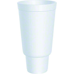 Dart® Large Foam Cup - 44 oz., Flush Fill, White