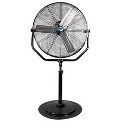 """MaxxAir™ Non-Oscillating Yoke Pedestal Fan - 30"""", Black"""