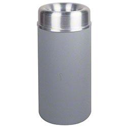 Rubbermaid® Crowne Open Top - 15 Gal., Textured Gray/Alum