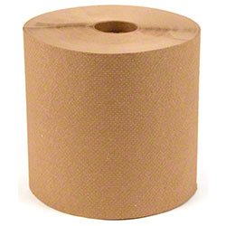 "Roll Towel Notched - 8"" x 600', Kraft"