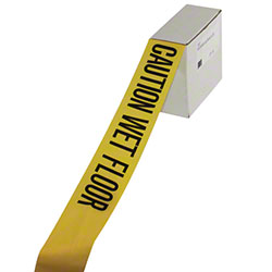 "Impact® ""Caution Wet Floor"" Barrier Tape"