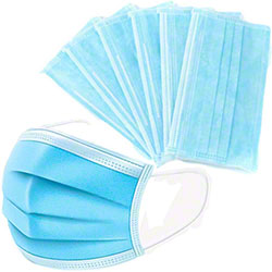 Blue Disposable Adult Size Face Mask