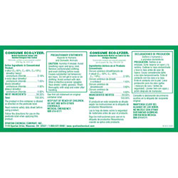 Spartan Secondary Label For Eco-Lyzer® Disinfectant