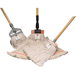 "SSS® 4-Ply Cotton Cut End Wet Mop - 1 1/4"", 16 oz."