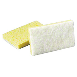 SSS® Light Duty White/Yellow Scrubbing Sponge #63