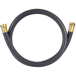 Tolco® Rubber Utility Hose w/Brass Fittings - 4'