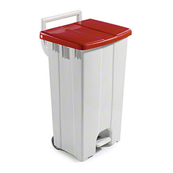 Filmop Polaris Basic Trash Bin - 24 Gal., Red Cover