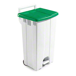 Filmop Polaris Basic Trash Bin - 24 Gal., Green Cover