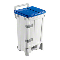Filmop Polaris Deluxe Trash Bin - 24 Gal., Blue Cover