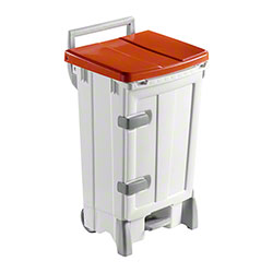 Filmop Polaris Deluxe Trash Bin - 24 Gal., Red Cover