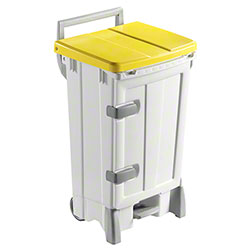 Filmop Polaris Deluxe Trash Bin - 24 Gal., Yellow Cover