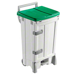 Filmop Polaris Deluxe Trash Bin - 24 Gal., Green Cover
