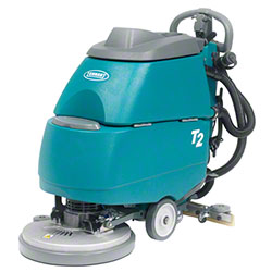 "Tennant T2 Compact Battery Walk Behind Scrubber - 17"", 105AH"