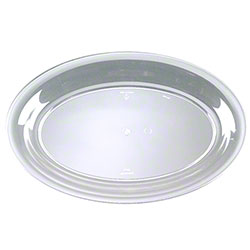 "EMI Yoshi Party Tray Oval Tray - 11"" x 16"", Clear"