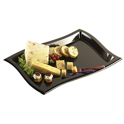 "EMI Yoshi Waves Rectangle Tray - 10"" x 14"", Black"