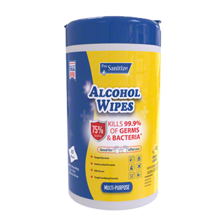 Isopropyl Alcohol Wipes 75% - 80 ct. Container