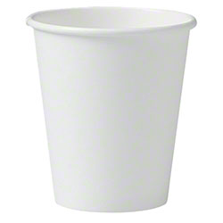 Solo® White Single Sided Poly Paper Hot Cups