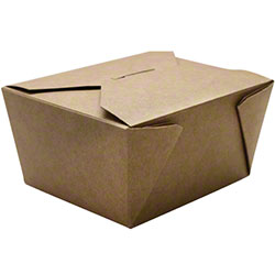 Karat® Kraft 30 oz. Fold-To-Go Box - #1
