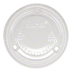 Karat® Clear Portion Cup PET Plastic Flat Lid -1/1.5/2 oz.