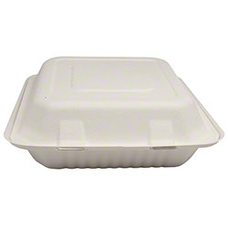 "Karat® Compostable Bagasse Container - 8"" x 8"""