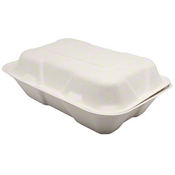 "Karat® Compostable Bagasse Container - 9"" x 6"""