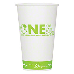 "Karat® Eco-Friendly ""One Earth"" Stock Print Paper Hot Cups"