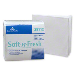 GP Soft-N-Fresh® Airlaid Light 1/4 Fold Washcloth - White