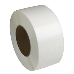 "PAC Strapping Machine Grade Polypropylene - 1/2"" x 9900', White"