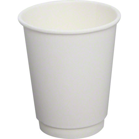 Karat® White Insulated Paper Hot Cup - 8 oz.