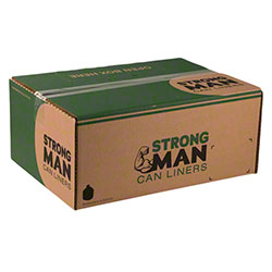 Strongman Can Liner - 43x47, 1.5 mil EQ, Black