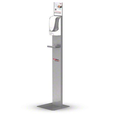 SCJP Touch-Free Dispenser Stand For Hand Sanitizer - Silver