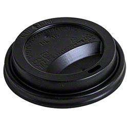 Eco-Packaging® Plastic Hot Cup Lid - 90mm, Black