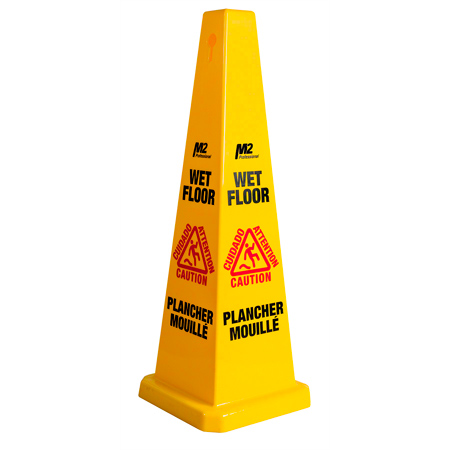 M2 Professional 4 Sided Safety Caution Sign - Large