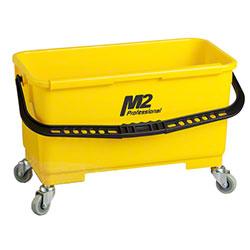 M2 Professional Window Bucket w/Caddy & Wheels - Yellow