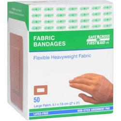 Heavyweight Large Patch Fabric Bandages - 50 ct. Box