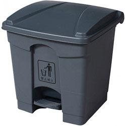 Trash Garbage Can Bin w/Lid & Pedal - 7 Gal., Grey