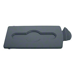 Rubbermaid® Slim Jim® Recycling Station Closed Lid Only - Gray