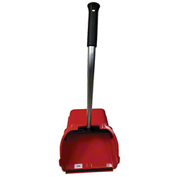 "Abco Jumbo Red Dust Pan w/30"" Steel Handle"